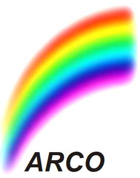 Regenbogen mit Schriftzug ARCO