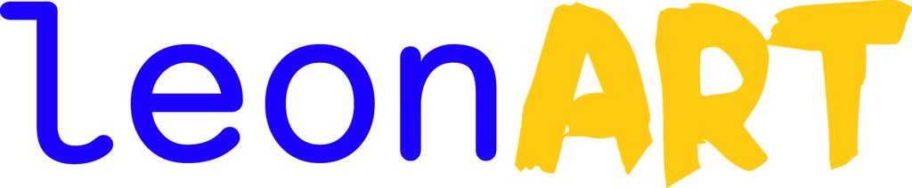 Logo leonart in violet gelb