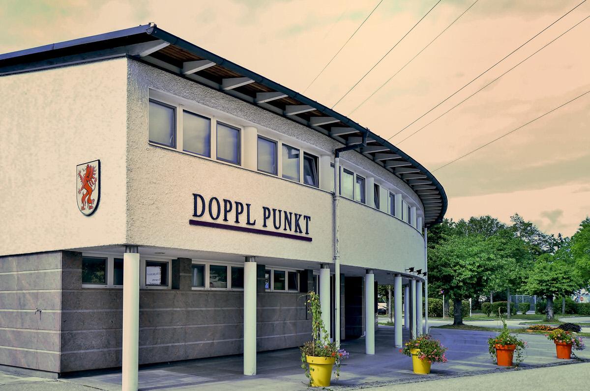 Eingang Veranstaltungszentrum Doppl:Punkt