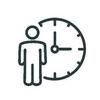 Icon mit Person und Uhr