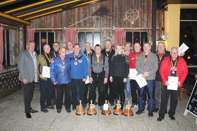 Siegergruppe Stadtmeisterschaften Eisstockschießen