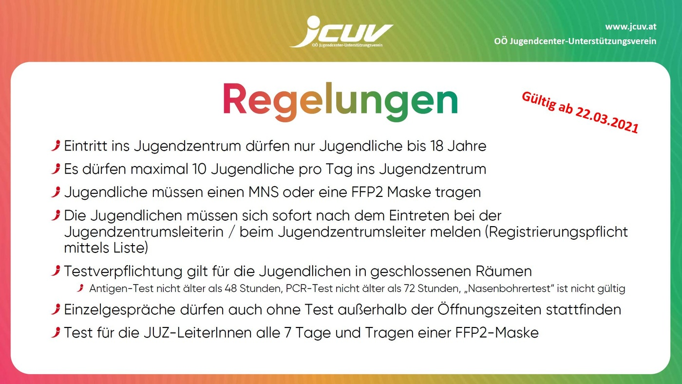 JCUV Covid-19-Regelung