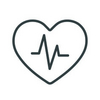 Icon Herz mit skizziertem Herschlag