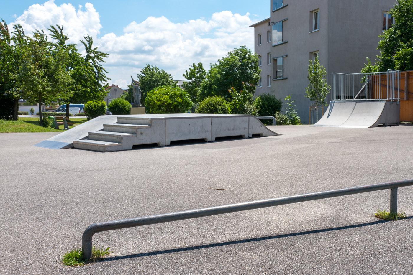 Skaterplatz im Zentrum von Leonding