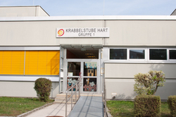 Gebäude der Krabbelstube Schulzentrum Hart